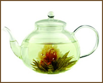 TRADITIONAL TEA POT W/FLOWERING TEA